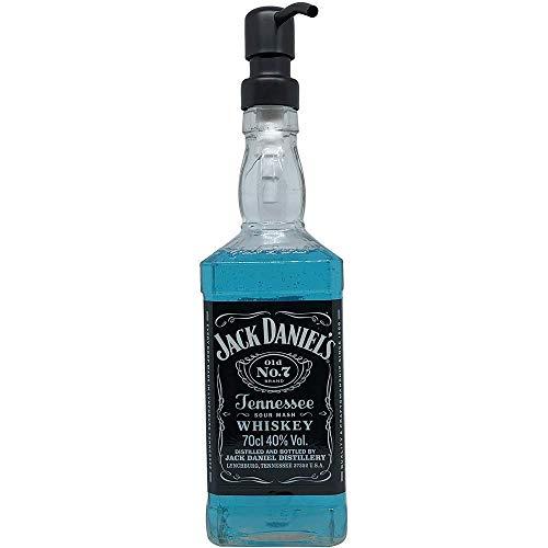 Dekoflasche - Dekospender - Jack Daniels - origineller Seifenspender Seifenspender mit Pumpknopf I Dekospender mit Flüssigseife modern I Flaschenspender Seifenwasser Seifenschaum