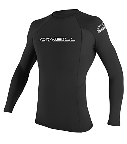 O'Neill Wetsuits Herren Basic Skins L/S Crew Rash Vest, Black, M