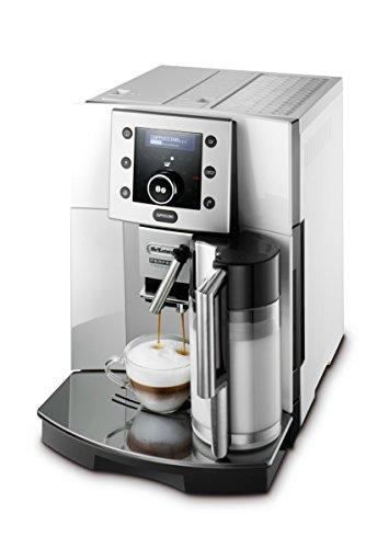 De'Longhi Perfecta ESAM 5500.S Kaffeevollautomat (1,8 l, Digitaldisplay, Integriertes Milchsystem, Kegelmahlwerk, 13-stufiges Mahlwerk, Herausnehmbare Brühgruppe, 2-Tassen-Funktion) silber