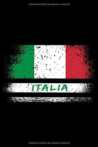 Italien Flaggen Notizbuch: Schönes Italien Flaggen Notizbuch mit 120 karierte Seiten im A5 Format
