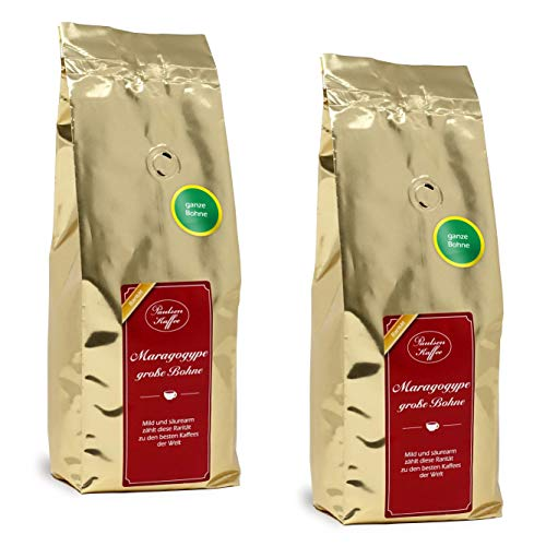 Paulsen Kaffee aus Mexiko Maragogype 500g im 2er Pack mit ganzen Bohnen