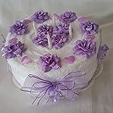 * Handtuchtorte * Geburtstag * weiß-lila