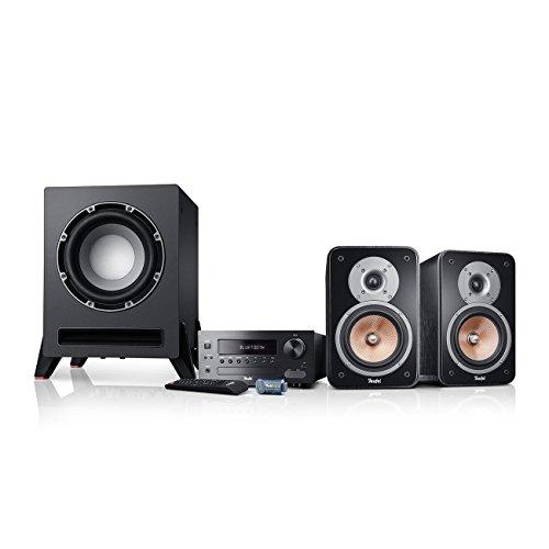 Teufel Kombo 42 BT Power Edition (2017) Schwarz Stereo Lautsprecher Musik Sound Hochtöner Mitteltöner Bass Speaker High End HiFi Tieftöner