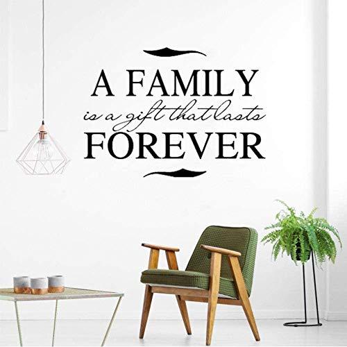 Wandaufkleber 53Cm * 38Cm Eine Familie Ist Ein Geschenk Für Immer Aufkleber Inspirierende Zitat Pvc Wandaufkleber