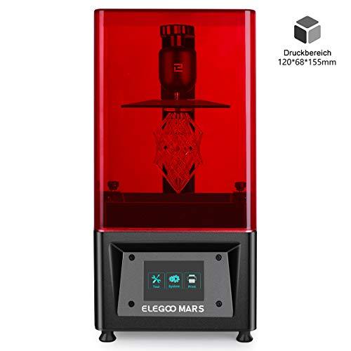 ELEGOO MARS UV LCD 3D Drucker mit 3,5 Zoll Smart Farbtouchscreen Offline-Drucken Druckbereich von 120 x 68 x 155 mm (Schwarz)