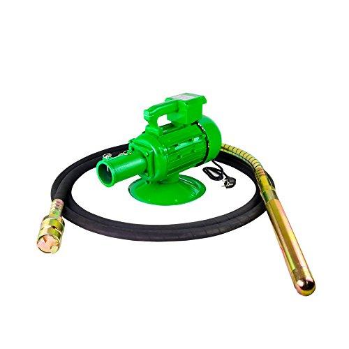 Betonrüttler Elektro 1500 W Flaschenrüttler 6 m Schlauchlänge, 45 mm verstärkter Rüttelvibrator bequemer Handgriff Handrüttler Rüttelflasche Verdichter LABT