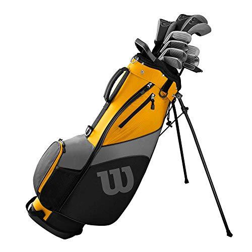 Wilson Ultra Herren Komplettes Golfschläger Set & Stand Tasche 2019 Golf Komplettset Eisen Hölzer Driver Bag Verschiedene Ausführungen Links/Standardlänge Mit Stahlschaft