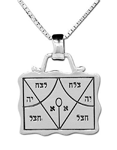 Rasiel der Engel Erfolg Amulett König Salomon Kabbalah Talisman Silber 925