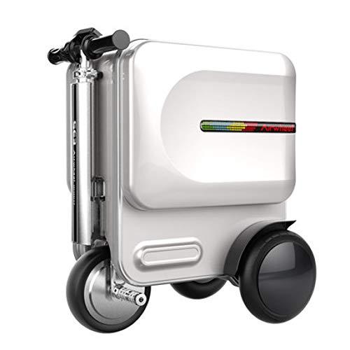 ZLJQQ Elektroreiten Reisen Rollgepäcktasche Intelligenter Radkoffer Fahrbarer Trolley Handgepäckkoffer Carry On Box, Verbesserte Version