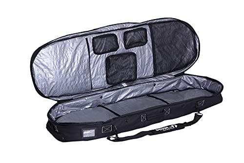 Driver13 ® Kiteboardtasche Weekend No.01, Kite Boardbag für Dein Kiteboard mit Rucksacksystem 145 cm schwarz