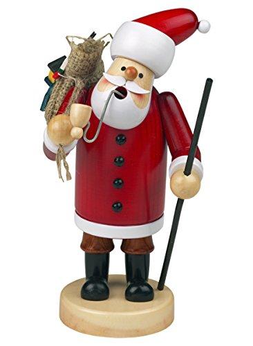 Räuchermännchen Räuchermann Räucherfigur Rauchfigur'Weihnachtsmann' ca. 14 cm hoch, aus Holz, Weihnachten Advent Geschenk (30109-14)