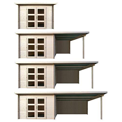HORI Gartenhaus I Gerätehaus aus Holz I nordische Fichte Natur I Verschiedene Größen und Ausführungen I Tampa I Größe 500 x 282 cm