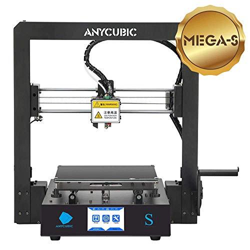 ANYCUBIC MEGA-S 3D Drucker mit Guter Qualität, neuem Extruder, Stabilen Vollmetall-Rahmen und Ultrabase Heizbett für 1,75 mm Filamente TPU, PLA, ABS geeignet (Mega S)