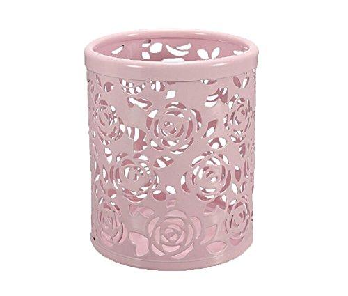 niceeshop(TM) Hollow Out Blume Schreibtisch Stift Organizer Behälter Haus Dekoration,Rosa