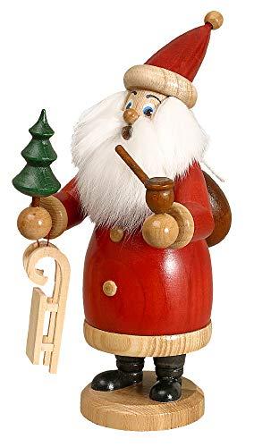 DWU Original Erzgebirgischer Räuchermann Weihnachtsmann rot mit Geschenke #958/R