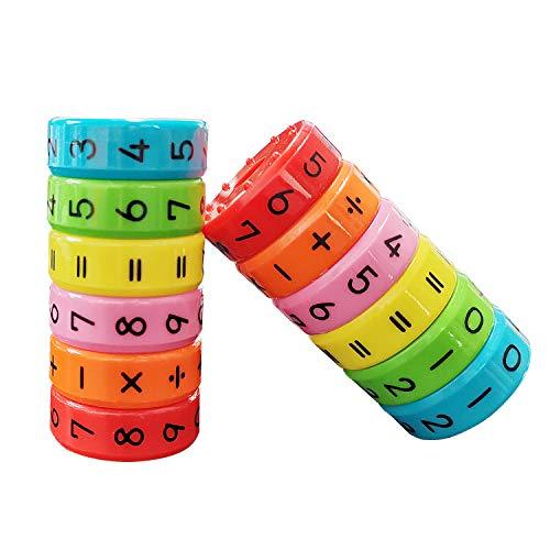 Kinder Lernspielzeug,Magnetisches Spielzeug Zum Rechnen Lernen für Kinde,Jungen und Mädchen Rubiks Würfel Spielzeug,Kinder Intelligenz Gehirn Entwickeln Spielzeug,Kindergarten Belohnung Spielzeug 2PCS