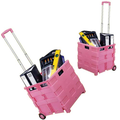 Einkaufswagen, zusammenklappbar, 25 kg, 35 kg, Pink, 35KG, 2