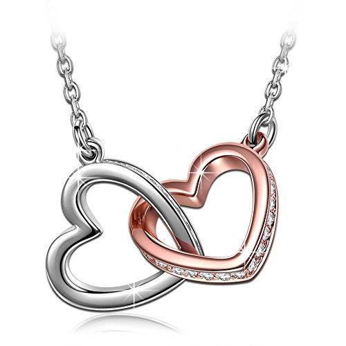 Kami Idea Muttertagsgeschenk Kette Damen Halsketten für Frauen Herz Anhänger Swarovski Kristall Geschenk für Frauen Schmuck Damen Modeschmuck Geburtstagsgeschenk für Frauen Mama Schmuckkästchen