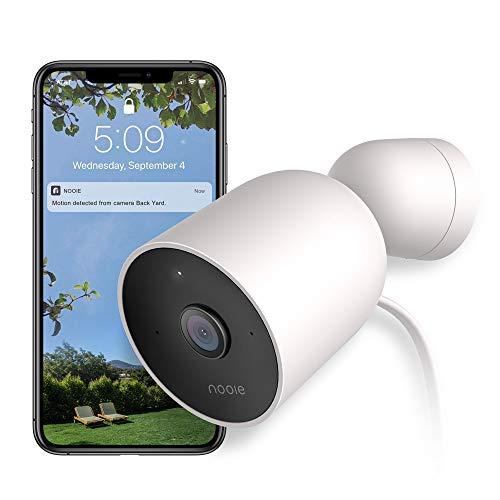 Nooie Überwachungskamera Aussen WLAN IP Kamera 1080P HD IP66 wasserdichte Sicherheitskamera mit Bewegungserkennung Zwei-Wege-Audio Nachtsicht 128G SD Karten Unterstützung