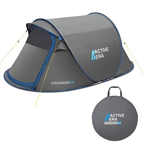 Active Era Premium Wurfzelt für 2 Personen - 100% wasserfestes Zelt mit verbesserter Belüftung und praktischer Tragetasche   Perfekt für Festivals und Camping