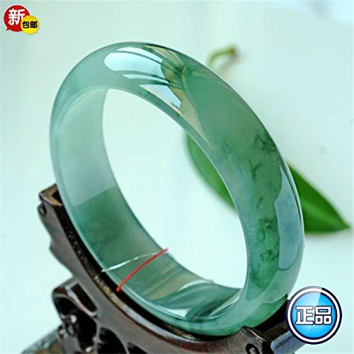 Armband aus natürlichem Birma-Eiswachs, Grün und voller Blumen, die Lmperial Concubine Violet Flattering Green Jade