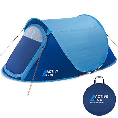 Active Era Wurfzelt für 2 Personen - Zelt mit Belüftung und praktischer Tragetasche | Perfektes Pop Up Zelt für Festivals und Camping Trips
