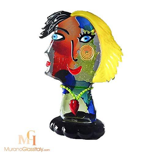 Kunst Skulptur Bunt, Picasso Skulpturen, 48 cm Höhe, Hergestellt in Italien