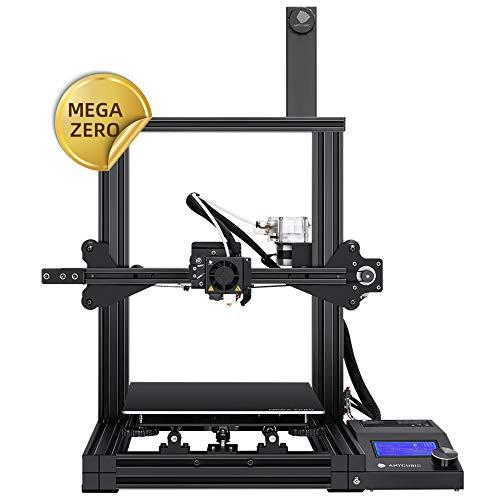 ANYCUBIC MEGA ZERO FDM 3D Drucker mit Baugröße 220 x 220 x 250mm Y-Achsen Doppel Trapezgewindespindel und kräftiger Extruder zum Drucken von PLA, ABS, TPU, WOOD, PETG
