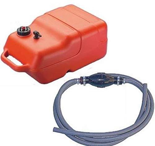 12 Liter Benzintank mit Pumpball und Benzinschlauch