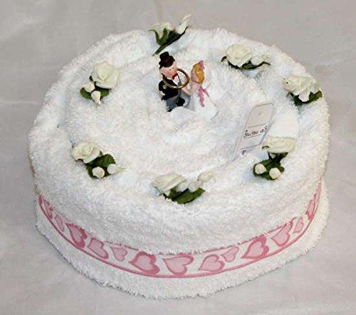Handtuchtorte / Hochzeitstorte, Farbe weiss, Gr. M