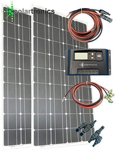 solartronics 200Watt 12Volt Solarset Solaranlage Inselanlage Garten Camping Solarmodul Solarbausatz
