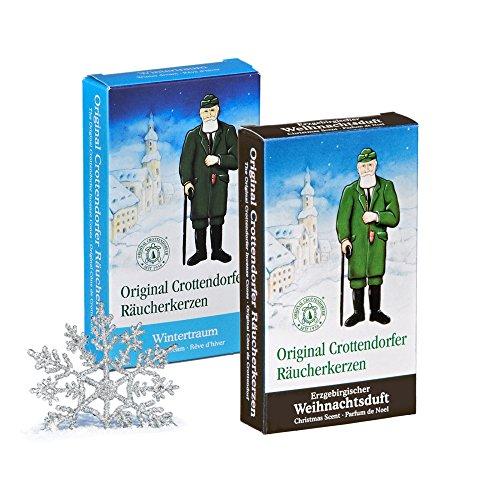 Crottendorfer Räucherkerzen Weihnachtsdüfte 2er Set Erzgebirgischer Weihnachtsduft + Wintertraum