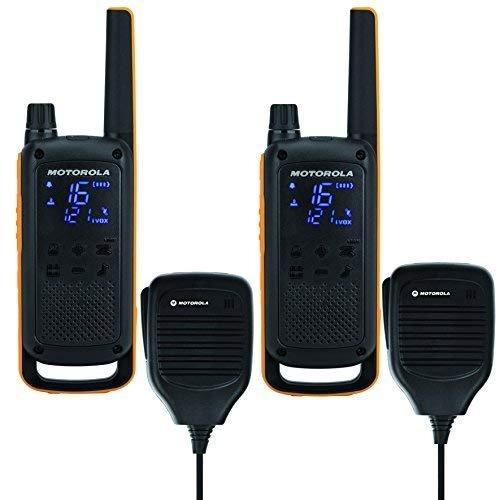 Motorola Talkabout T82 Extreme RSM PMR Funkgerät (Bis zu 10 km Reichweite, IPx4 Wetterschutz, 500 mW, VOX)