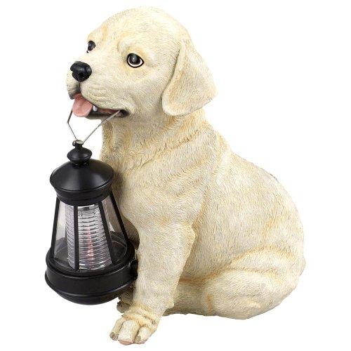 Globo 33372 Solar Außenleuchte Kunststoff Hund braun-weiß 1 x LED weiß, 23.5 x 15.5 cm, H: 25 cm