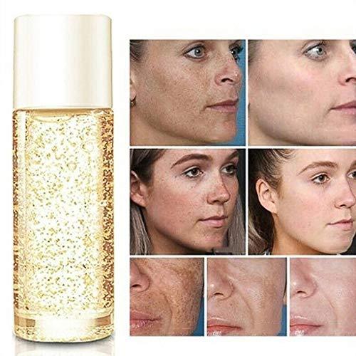 Luccase 10ML 24K Anti-Aging-Gesichtspflege Serum Feuchtigkeitsspendende Gold Gesichtsserum Hautpflege Goldene Seidenkollagenampulle