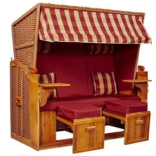 intergrill Strandschönheiten Joan Ostsee XXL Strandkorb 2,5-Sitzer Verschiedene Dekor Terrassen Wintergärten Garten