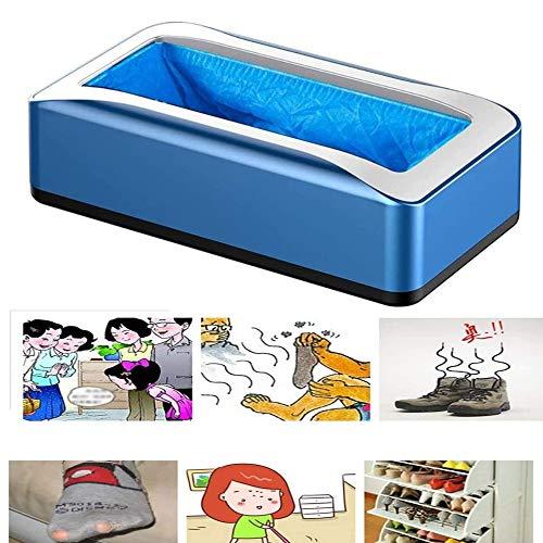 Jingmei Schuhfolienmaschine - Automatische Schuhabdeckmaschine Zum Einmalgebrauch Mit Rutschfestem Luftkissen Für Die Auto-Boot-Schuhabdeckungs-Spendermaschine Für Büro-Besprechungsräume,Blue