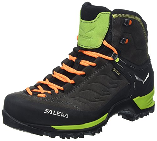 Salewa Herren MS Mountain Trainer Mid Gore-TEX Trekking-& Wanderstiefel, Black/Sulphur Spring, 43 EU
