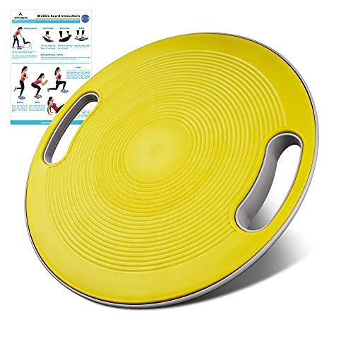 arteesol Balance Board, Wackelbrett Therapiekreisel Physiotherapie Ø 40cm mit Griffen, Geeignet für Training von Gleichgewicht, Koordination, Physiotherapie und Rehabilitation