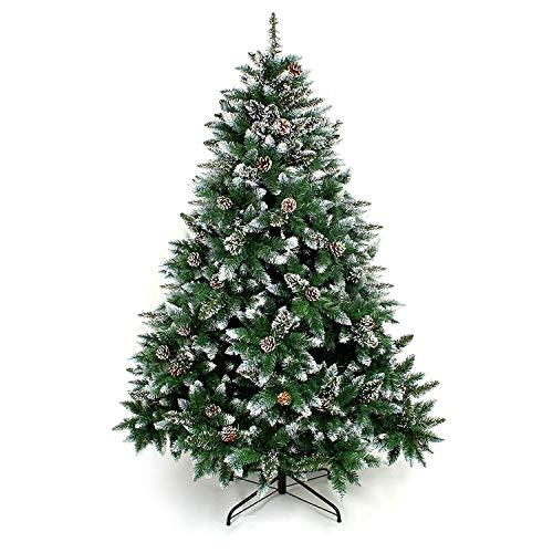 Yorbay Weihnachtsbaum Tannenbaum mit Ständer 120cm-240cm für Weihnachten-Dekoration (Weihnachtsbaum mit Schnee, 120cm)