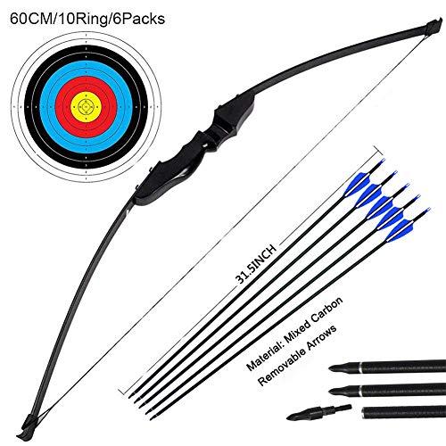 Outdoor-shooter Bogenschießen-Trainingsspielzeug für Bogen und Bogen im Freien (40LB, 5 × Pfeile, 6 × Zielflächen)