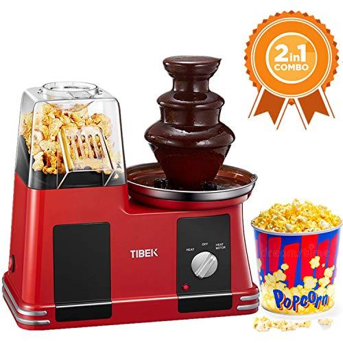 Popcorn-Maschine Popcornmaschine mit Schokoladenbrunnen Heißluft ohne Öl BPA frei