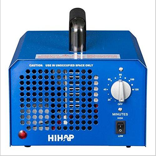 Profi Ozongenerator 3000 bis 7000mg/h- 3,5bis7g/h einstellbar Timer Ozon Generator perfekt Luftreiniger für Ihr Auto,Kücke Desinfektion, Formaldehyd Reduzierung und geruchtilgend in Badezimmer(Blau)