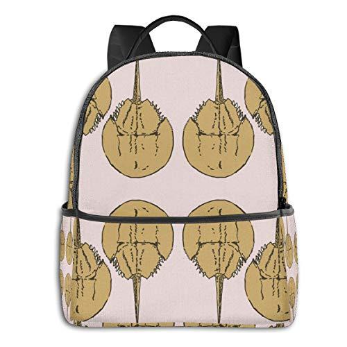 Rucksack für Jungen mit niedlichem Ratten, hohe Kapazität, Diebstahlschutz Orange Geschenkpapier mit Krabben auf rosa Einheitsgröße