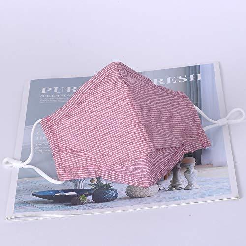 Staub Kostüm Mode Maske Waschbar und wiederverwendbar Stoffmaske, Unisex, verstellbar, Anti-Staub-Gesichtsmaske für Radfahren, Camping, Reisen Rose red 3pcs Rose red 3pcs