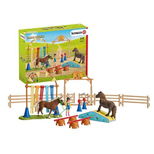 SCHLEICH 42481 Spielset - Pony Agility Training (Farm World)