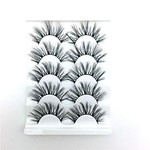 Falsche Wimpern Simulation von natürlich verdickten Wimpern, für die tägliche Make-up-Hochzeit, Party wiederverwendbar, 5 Paare
