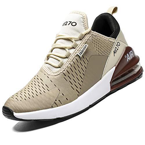 Mabove Laufschuhe Herren Turnschuhe Sportschuhe Straßenlaufschuhe Sneaker Atmungsaktiv Trainer für Running Fitness Gym Outdoor(Beige 9670,43 EU)