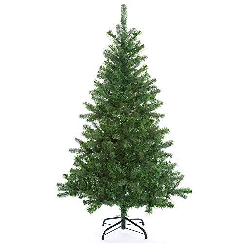 Casaria Weihnachtsbaum 140 cm Metallständer künstlicher Tannenbaum Christbaum Baum Tanne Spritzguss Christbaumständer Mix PE PVC