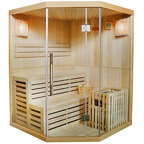 Artsauna Traditionelle Saunakabine/Finnische Sauna Espoo 150 x 150 cm 6 kW